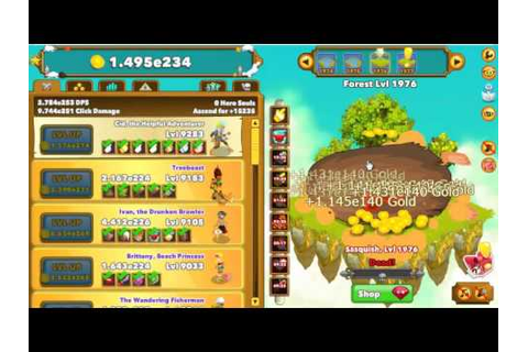 Clicker Heroes Armor Games play game 2000 level - YouTube