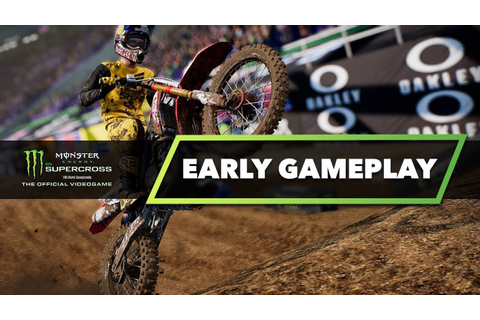 Monster Energy Supercross The Game - Early Gameplay - Are ...