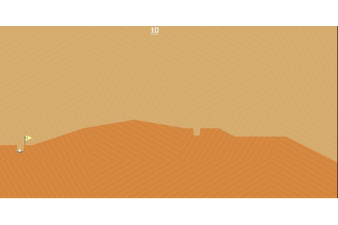 Desert Golfing is a simple, sand-filled golf game