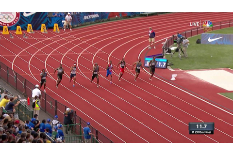 Olympic Track and Field Trials | Gatlin, Merritt, Webb ...