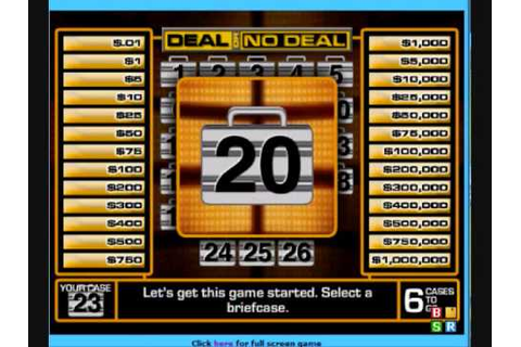 Deal Or No Deal Game Play - YouTube