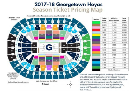 Georgetown Hoyas Basketball Season Tickets (Includes ...