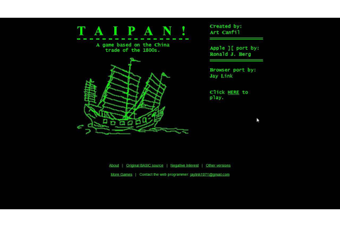 Let's Quickly Play Taipan! - YouTube