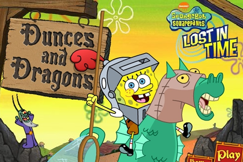 SpongeBob Dunces and Dragons Lost in Time Game - Spongebob ...