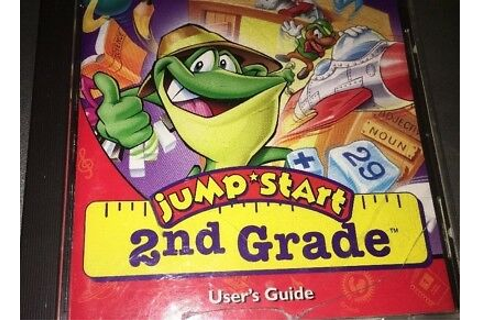 JumpStart 2nd Grade Deluxe PC CD child learn math language ...