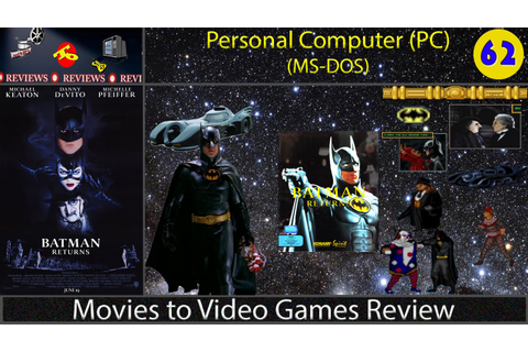 Movies to Video Games Review -- Batman Returns (PC/DOS ...