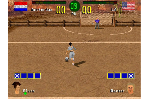 Chris Kamara's Street Soccer (2000) PS game