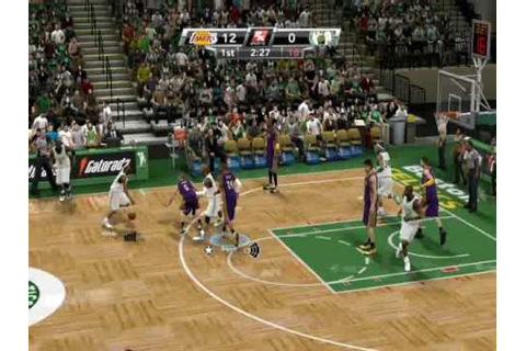NBA 2K9 PC LAKERS VS CELTICS - YouTube