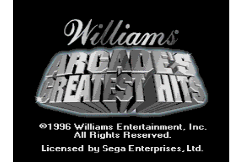 Williams Arcade's Greatest Hits (USA) ROM