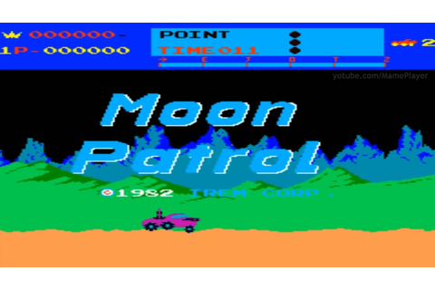 Moon Patrol 1982 Irem Mame Retro Arcade Games - YouTube