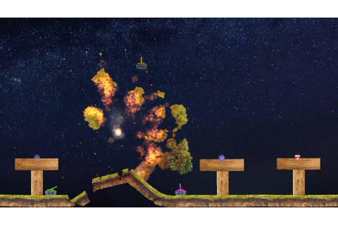 Jelly in the sky, a new take on the old 2d artillery games ...