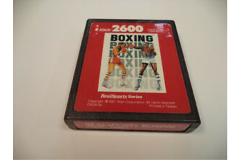 Red Label Atari 2600, Real Sports Boxing Game Cartridge ...