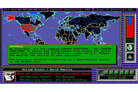 Shadow President Download (1993 Simulation Game)