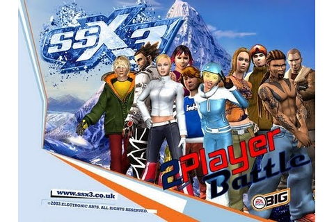 SSX3 - 2 player battles - PS2 - YouTube