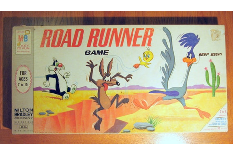 1968 Warner Brothers Road Runner Board Game
