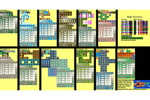 SNES - Super Bomberman 2 - Battle Game Tiles - The ...