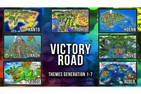 All Pokémon Victory Road Themes [GEN 1-7] - YouTube