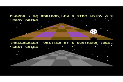 Lukozer Retro Game Review 011 - Trailblazer - Commodore 64 ...