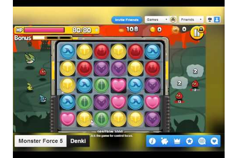 Monster-Force-5-Game-On-Chrome | Chrome Geek