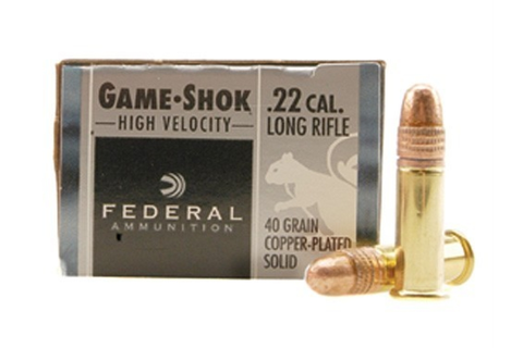 Federal Game-Shok Ammo 22 Long Rifle High Velocity 40 ...