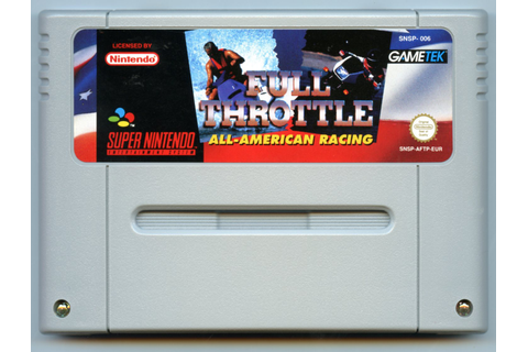 Full Throttle: All American Racing (Super Nintendo) – The ...