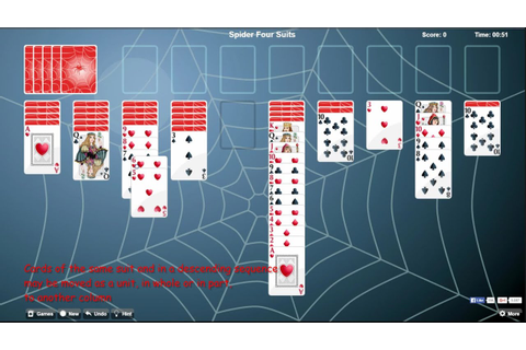 Play Spider Solitaire *FREE* with three difficulty game ...