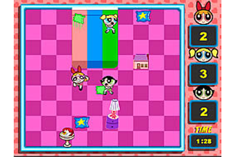 Powerpuff Girls - Pillow Fight Game - Play online at Y8.com