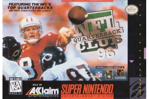 NFL Quarterback Club 96 SNES | Retro Games Video Game Store