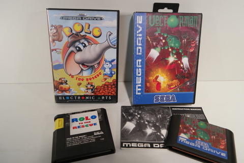 Lot of 2 Sega Mega Drive games: Rolo To The Rescue ...