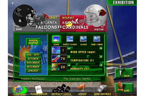 Front Page Sports Football FB Pro '98 (PC) - NFL Manager ...