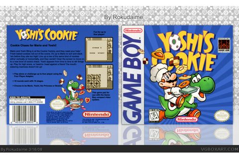 Yoshi's Cookie Game Boy Box Art Cover by Rokudaime