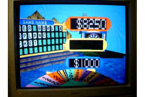 Playstation Wheel of Fortune Game 6 Part 1 - YouTube