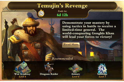 Image - Temujin's Revenge Front Page.PNG | DomiNations ...
