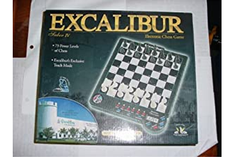 Amazon.com: Excalibur Electronic Saber 4 Electronic Chess ...
