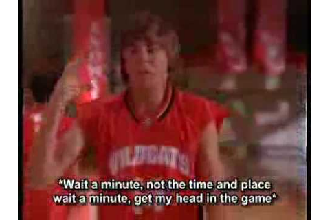 Zac Efron Getcha head in the game Lyrics - YouTube
