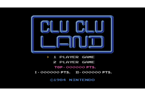 Clu Clu Land - Game - Nintendo World Report