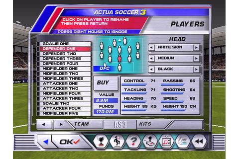 Download Actua Soccer 3 (Windows) - My Abandonware