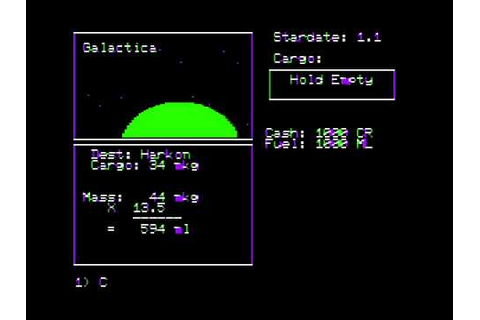 Galactic Trader for the Apple II - YouTube