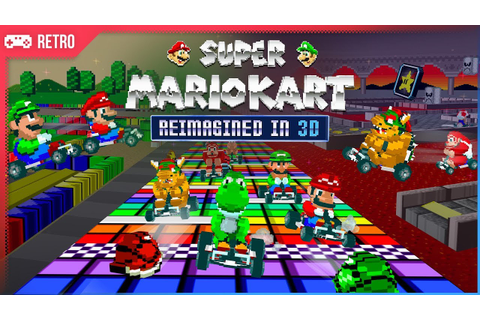 Super Mario Kart (1992) Reimagined in 3D graphics! - YouTube