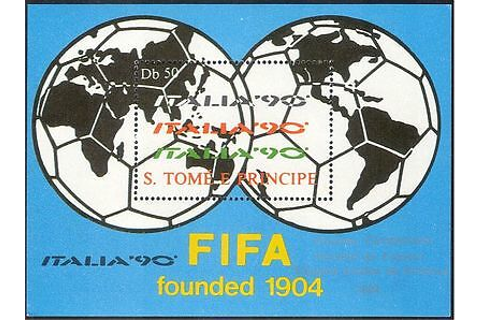 "Sao Tome 1990 Football/World Cup/WC/""Italia '90""/Sport ..."