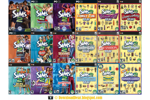 Download The Sims 2 Expansion Pack + Stuff Pack Full ...