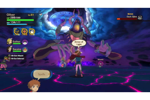 Ni No Kuni: Shadar The Dark Djinn (epic boss battle ...