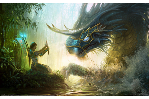 artwork, Fantasy Art, Video Games, Dragon, Women, Samurai ...