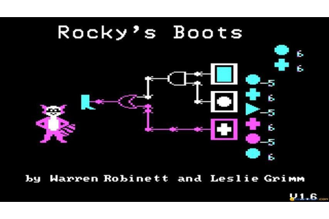 Rocky's Boots gameplay (PC Game, 1982) - YouTube