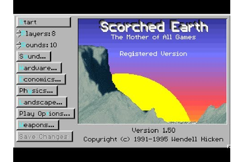 Scorched Earth (PC, DOS) 1991-95, Wendell Hicken - YouTube