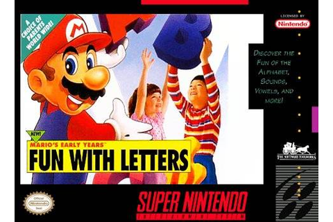 Mario's Early Years - Fun with Letters SNES Super Nintendo