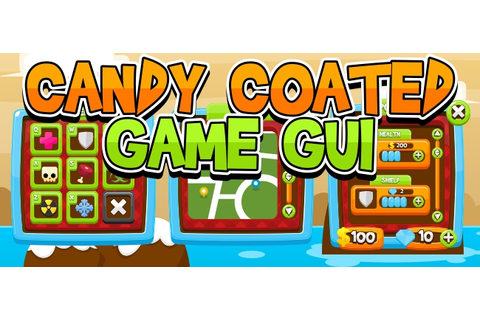 Buy Candy Coated Game GUI - For UI Graphic Assets ...