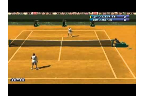 Pro Tennis WTA Tour sur GameCube - YouTube