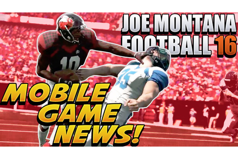 Joe Montana Football 16 Is A MOBILE GAME Reaction - YouTube