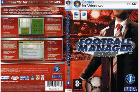 Free Download Cover Designer: Game Football Manager 2008